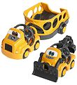 Oball Tractor w. Trailer - Go Grippers - Yellow