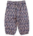 Noa Noa Miniature Trousers - Dark Blue w. Print