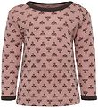 Hummel Long Sleeve Top - HMLDallas - Wool - Ash Rose/Brown w. Lo