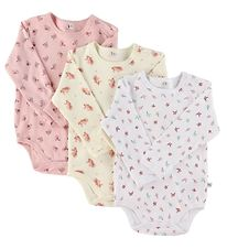 Pippi Bodysuit - Assorted - L/S - White/Pink Pattern