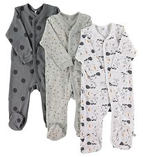Pippi Jumpsuit w. Footies - Assorted - Off-White