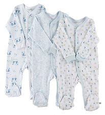 Pippi Jumpsuit w. Footies - Assorted - Light Blue