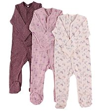 Pippi Jumpsuit w. Footies - Assorted - Girl/Tinted