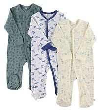 Pippi Jumpsuit w. Footies - Assorted - Boy/Colour