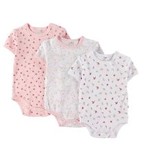 Pippi Bodysuit - Assorted - S/S - Pink/White Pattern