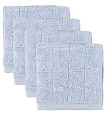Pippi Wash Cloth - 4-Pack - Light Blue