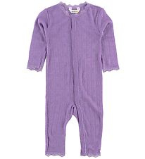 Joha Jumpsuit - Wool/Silk - Purple w. Pointelle