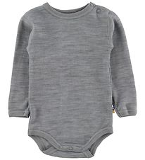 Joha Bodysuit - Wool/Cotton - L/S - Light Grey