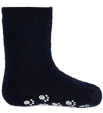 Joha Socks - Wool - Navy w. The Non-Slip