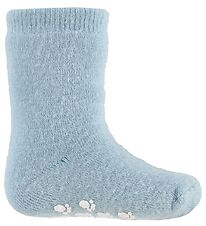 Joha Socks - Wool - Light Blue w. Non-Slip