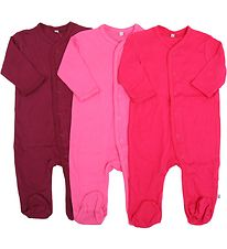 Pippi Jumpsuit w. Footies - Assorted - Girl/Plain