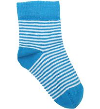 Smallstuff Socks - Turquoise/White Striped