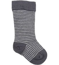 Smallstuff Knee High Socks - Grey/Light Grey Striped