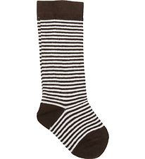 Smallstuff Knee High Socks - Brown/White Striped
