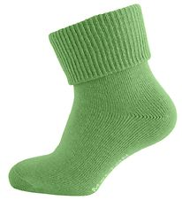 Melton Baby Socks - Apple Green