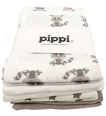Pippi Cloth Diapers - 8-Pack - White/Sand w. Stars And Animals