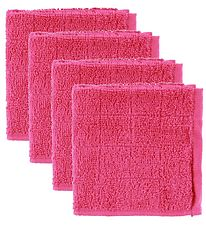 Pippi Wash Cloth - 4-Pack - Pink