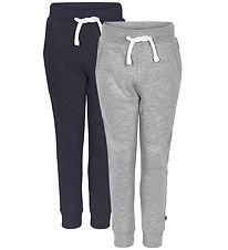 Minymo Sweatpants - 2-Pack - Navy/Grey