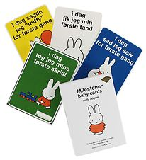 Milestone Miffy Baby Cards - The First Year - 30 pcs - Danish