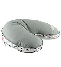 Done By Deer Nursing Pillow - Grey w. Dots