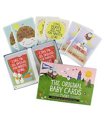 Milestone Baby Cards - Twins - Danish - 48 pcs