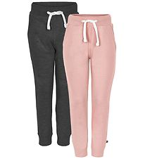 Minymo Sweatpants - 2-Pack - Pink/Grey