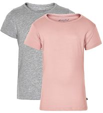 Minymo T-shirt - 2-Pack - Pink/Grey