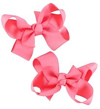 Bows By Stær Bow Hair Clips - 2-Pack - 8 cm - Coral