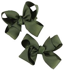 Bows By Stær Bow Hair Clips - 2-Pack - 8 cm - Army