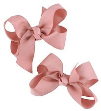 Bows By Stær Bow Hair Clips - 2-Pack - 10 cm - Dusty Rose