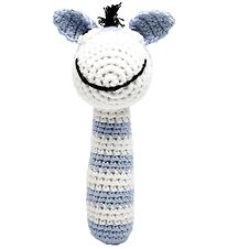 NatureZoo Rattle - Sir Donkey - Light Blue/White