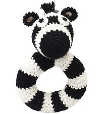 NatureZoo Rattle - Round - Sir Zebra - Black/White