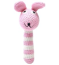 NatureZoo Rattle - Ms. Rabbit - Pink/White