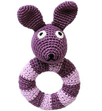 NatureZoo Rattle - Round - Mrs. Rabbit - Purple/Lavender