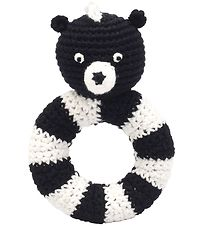 NatureZoo Rattle - Round - Sir Skunk - Black/White