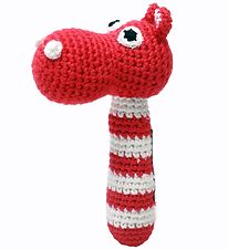 NatureZoo Rattle - Ms. Hippopotamus - Red/White