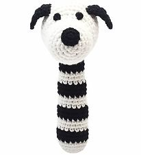 NatureZoo Rattle - Sir Dog - Black/White