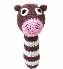 NatureZoo Rattle - Ms. Cow - Brown/White/Pink