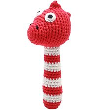 NatureZoo Rattle - Mrs. Dino - Red/White