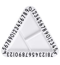 Design Letters Plate - Melamine - White/Numbers