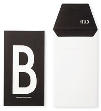Design Letters Card w. Envelope - Black w. B