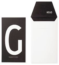 Design Letters Card w. Envelope - Black w. G