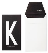 Design Letters Card w. Envelope - Black w. K