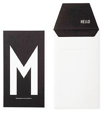 Design Letters Card w. Envelope - Black w. M