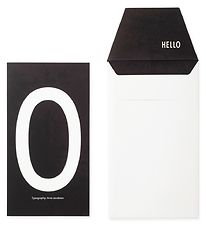 Design Letters Card w. Envelope - Black w. O