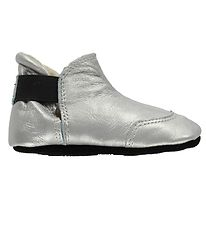 Fuzzies Soft Sole Leather Shoes - Laura - Titanium