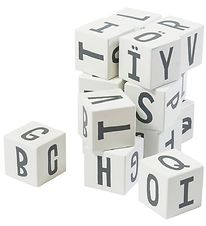 Sebra Stacking Blocks - 16 pcs - Letters