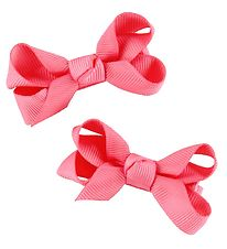 Bows By Stær Bow Hair Clips - 2-Pack - 6 cm - Coral