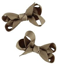 Bows By Stær Bow Hair Clips - 2-Pack - 6 cm - Latte