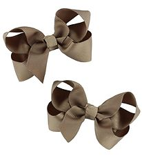 Bows By Stær Bow Hair Clips - 2-Pack - 8 cm - Latte
